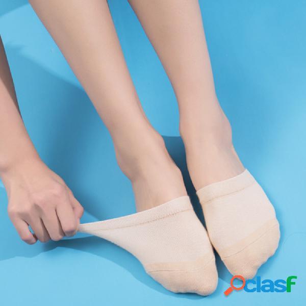 Pantofole antiscivolo in cotone silicone antiscivolo frontali a metà zampa anteriore calze