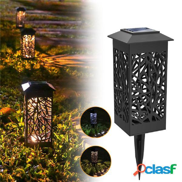 Led solare paesaggio prato lampada torcia giardino lanterna luce esterna impermeabile