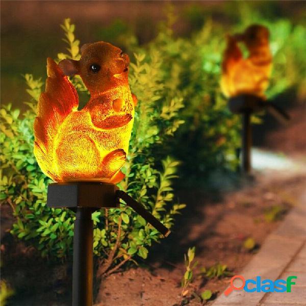 Scoiattolo solare prato lampada decorazioni da giardino luce esterna impermeabile via