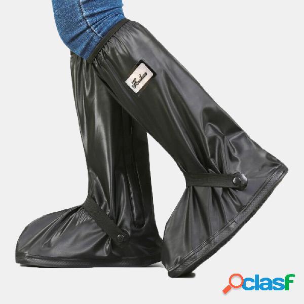 Stivali da pioggia da donna in pvc da uomo con cerniera e copriscarpe impermeabili