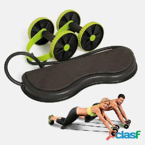 Ruota addominale multifunzionale idoneità ruota del rullo di potenza silenzioso plastica gambe della vita equipaggiamento di allenamento