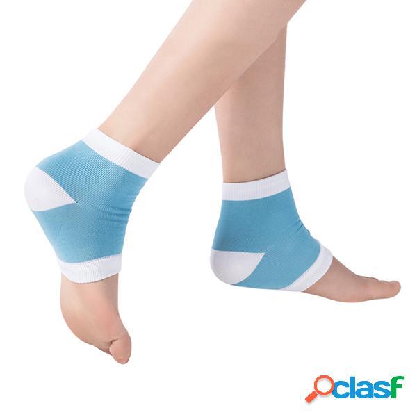 Donne anti-cracking gel calze nylon mezzi calze silicone gel piedi protector calze