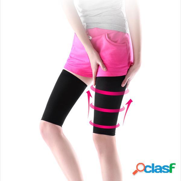 Calze snellenti per le gambe compressione traspirante elastica brucia grasso coscia slim calza per modellare il massaggio
