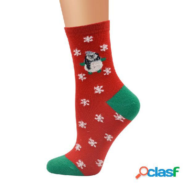 Women winter warm cotton calze merry christmas party simpatico babbo natale cervo pupazzo di neve tubo calze