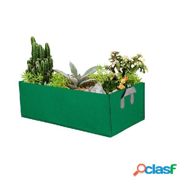 Il giardino coltiva le borse le erbe della piantagione di fiori di fiori di rettangolo la torba non tessuta di coco torba coltiva le borse giardino domestico