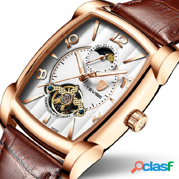 Orologio da polso da uomo stile t802b moonphase date display orologio automatico meccanico