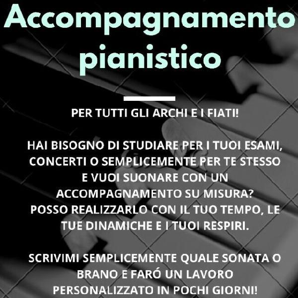 Accompagnamento pianistico su misura (violini-celli-flauti)
