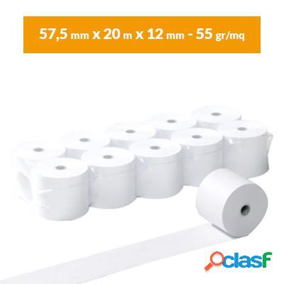 Rotoli carta termica 57,5x30 omologati (10 pz) per registratore di cassa