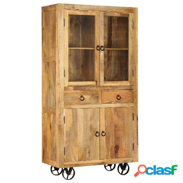 Vidaxl credenza in legno massello di mango 95x45x185 cm