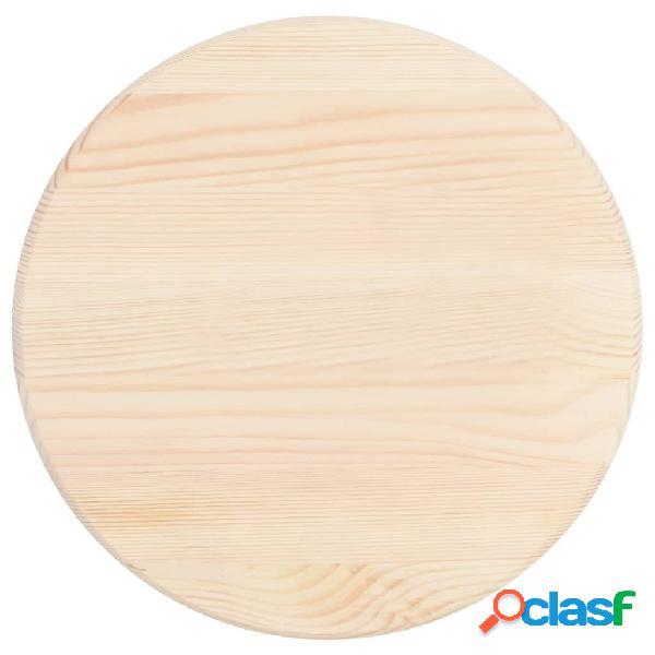 Vidaxl piano tavolo in legno di pino naturale rotondo 25 mm 40 cm