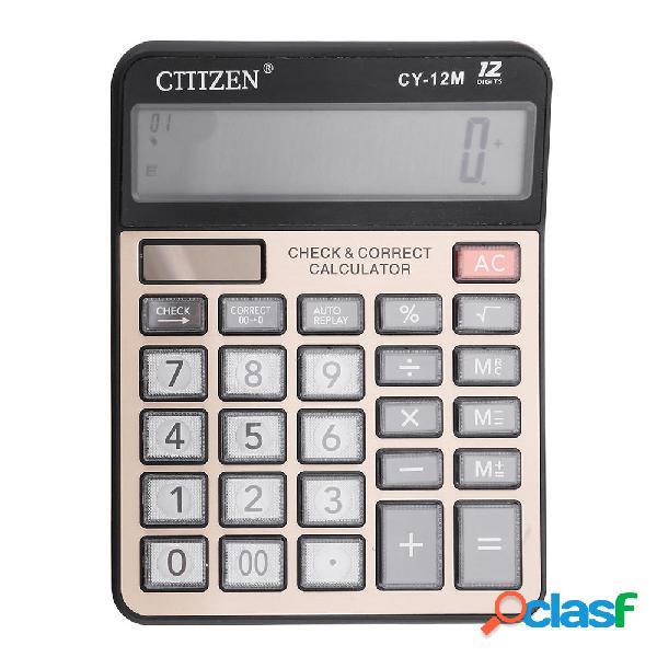 Gtttzen cy-12m calcolatrice elettronica a doppia alimentazione calcolatrice elettronica a 12 cifre computer keys compute