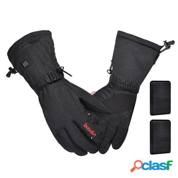 3000mah riscaldamento elettrico ricaricabile guanti batteria scaldamani invernale riscaldato per moto da sci impermeabil