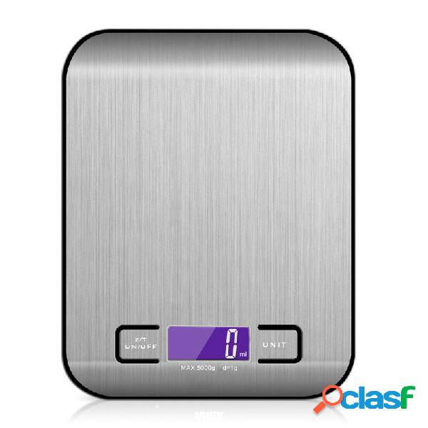 22 lb / 10000g cucina elettronica scala cibo digitale scala acciaio inossidabile peso scala lcd misurazione ad alta prec
