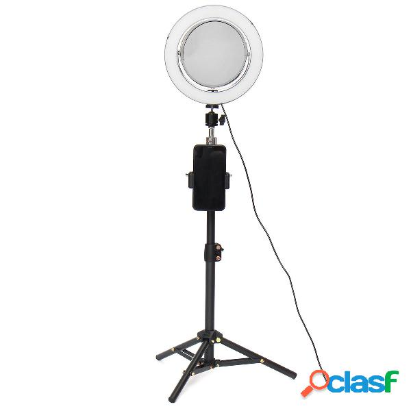 Streaming live trucco selfie led anello luminoso con supporto per telefono cellulare bluetooth remoto