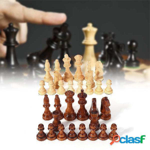 Scacchi in legno intagliato 32 pezzi 10,5 cm king chessman set creato a mano giocattolo per intrattenimento allaper