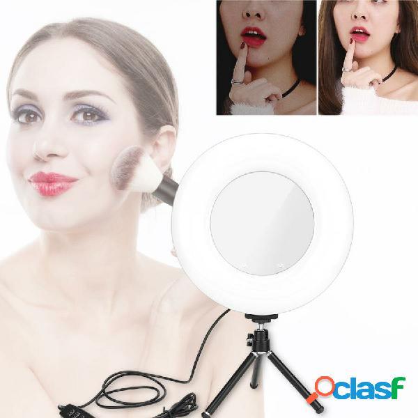 Anello luminoso dimmerabile led luce di riempimento con supporto per video live stream trucco luci specchio led luce di
