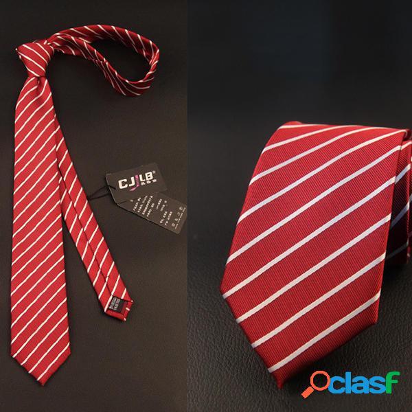 Uomini striped attività commerciale suit cravatte jacquard cravatte formali di nozze