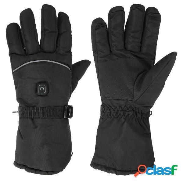 Riscaldamento elettrico guanti riscaldamento invernale riscaldato touchscreen impermeabile moto allaperto