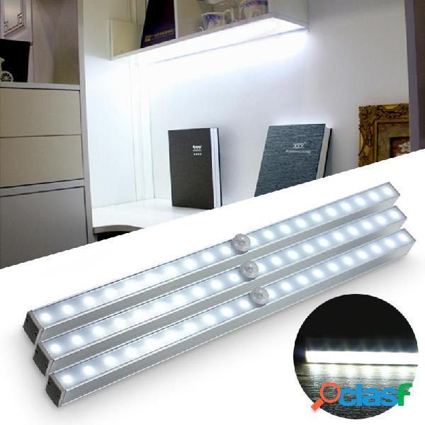 Batteria portatile alimentato a 20 led pir sensore di movimento luce per armadio vetrina notte