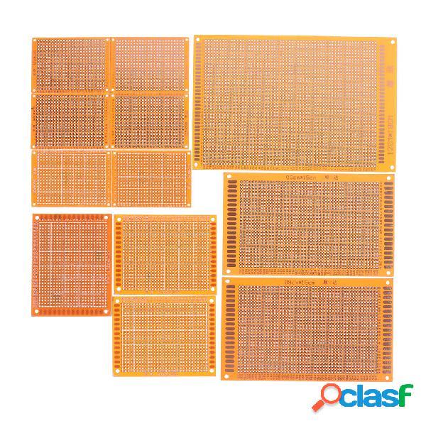 12pcs circuito stampato prototipo di circuito stampato elettrico breadboard stripboard fai da te rame piatto kit test la