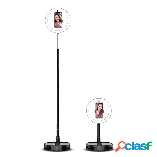 10 pollici 2200-12000k dimmerabile led selfie ring light con supporto telefonico base telescopica per tiktok youtube vid