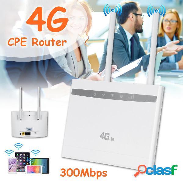 4g lte cpe router wifi wireless repeater hotspot carta sim modem dual antenna car