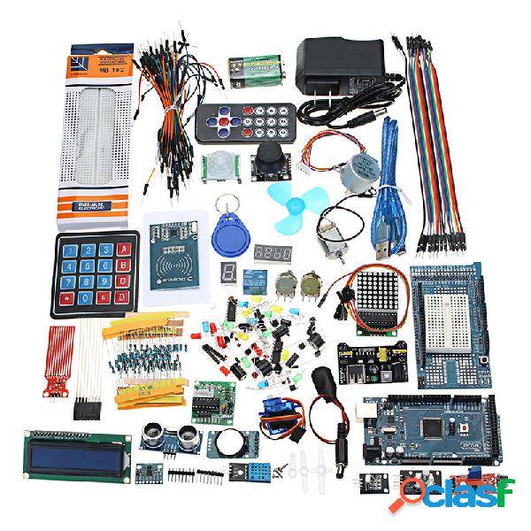 Geekcreit mega 2560 i kit di avviamento definitivi più completi per arduino mega2560 unor3 nano - prodotti compatibili c