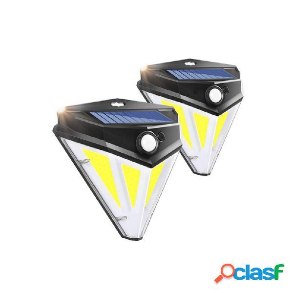 84 cob led solare power light pir sensore di movimento percorso a parete garden lampada impermeabile