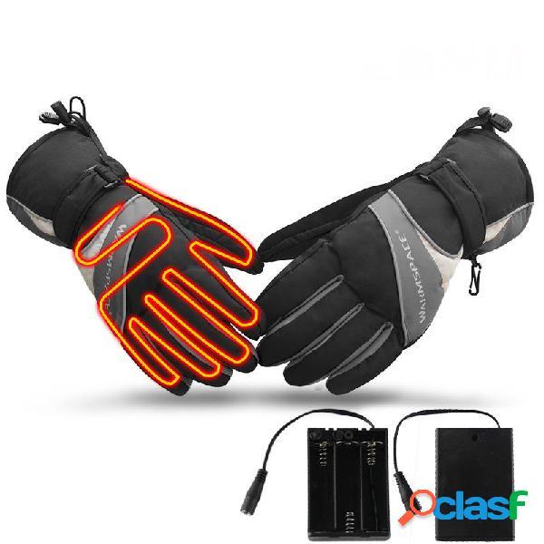 Warmspace ws-ga304b riscaldamento elettrico guanti sci esterno equitazione touch screen guanti guanto caldo invernale