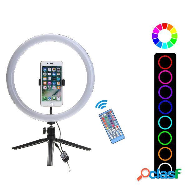 Flash selfie led anello luminoso dimmerabile desktop supporto per treppiede rimovibile supporto per clip da telefono per