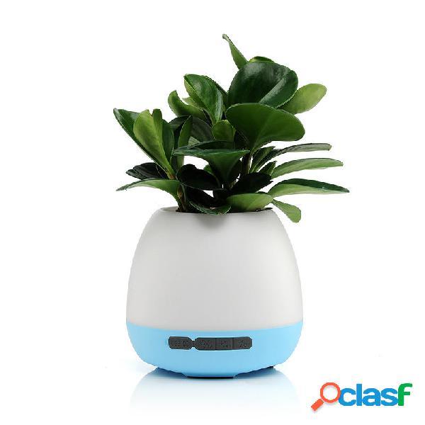 Senza fili bluetooth speaker music flowerpot pioneer touch control colorful light speaker