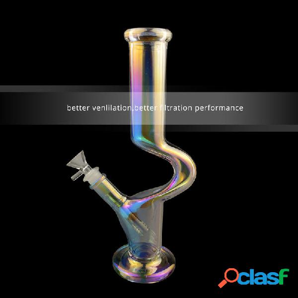 C tipo fancy bottle beaker beaker pipa in vetro tubi gorgogliatori per fumatori riciclatore t obacco acqua h ookah penna