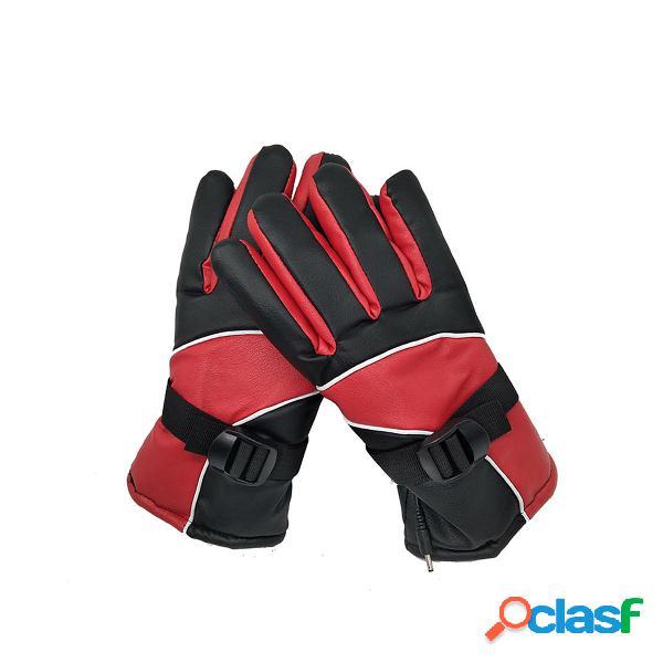 36v-96v riscaldato elettrico guanti impermeabile touchscreen regolabile termico esterno
