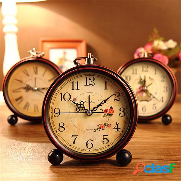 Orologio d'epoca aralm tavolo scrivania orologio da parete retrò in stile rurale casa decorativi orologio arredamento
