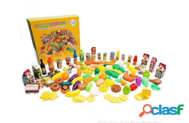120pcs simulazione cibo giochi per bambini giocattoli per la casa educazione precoce set di stoviglie per frutta