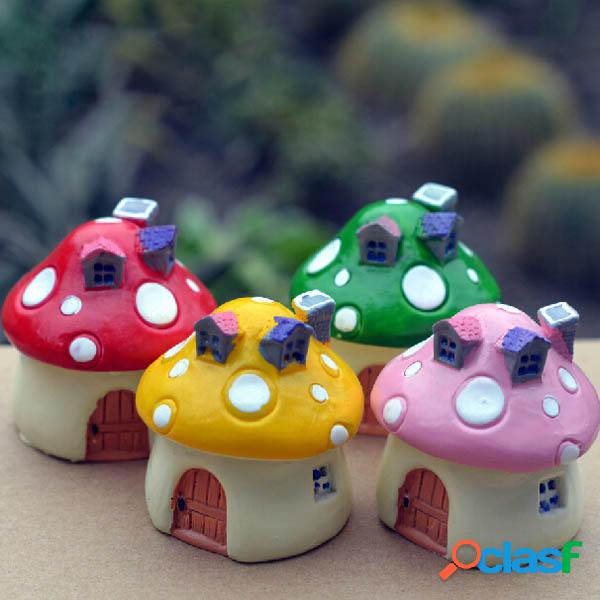 Mini resina funghi casa micro paesaggio decorazioni fai da te