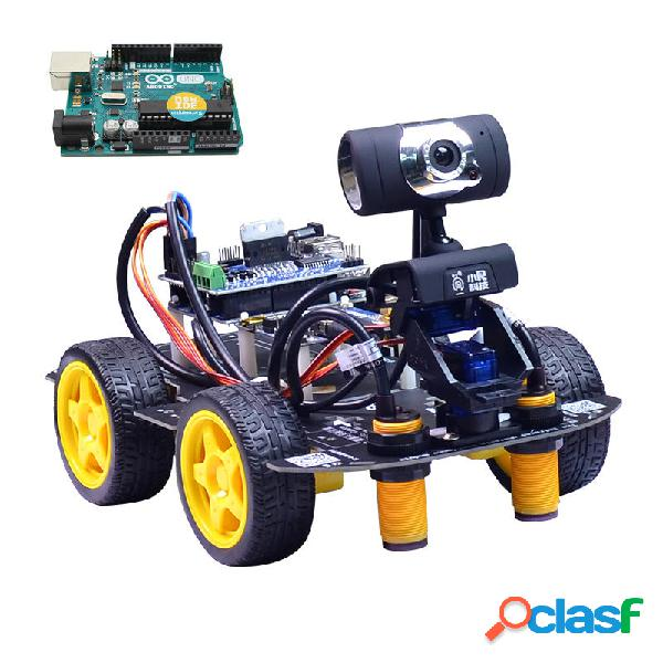 Automobile di controllo video wifi robot intelligente xiao r diy con scheda fotografica gimbal uno r3