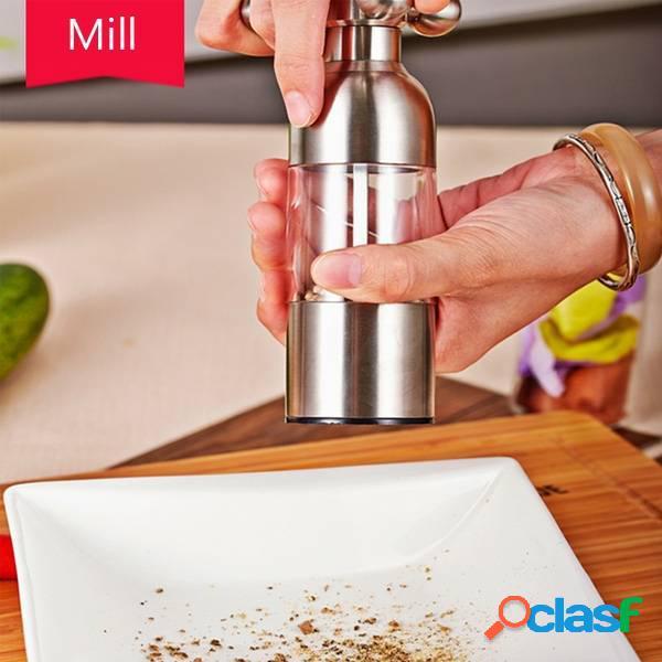 Acciaio inossidabile handheld rubinetto pepe sale mulino macinatore spice mill muller strumento di cottura