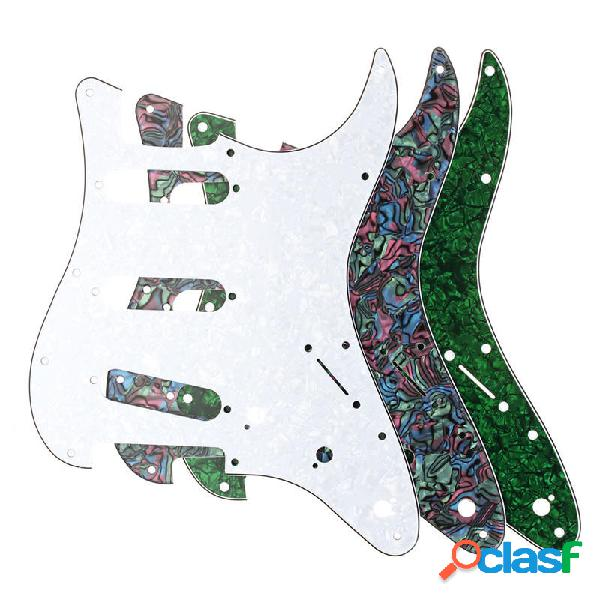 3ply pickguard per chitarra adatta per usa / mex fender stratocaster strat
