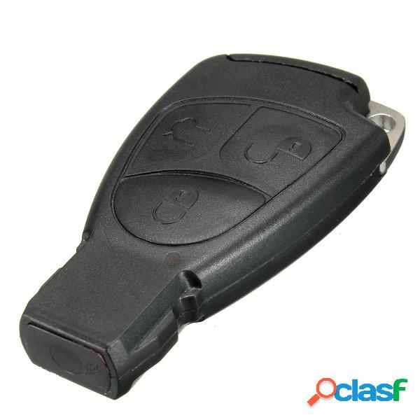 Chiave a chiave 3 chiavi remoto con chiave piccola e clip batteria per mercedes