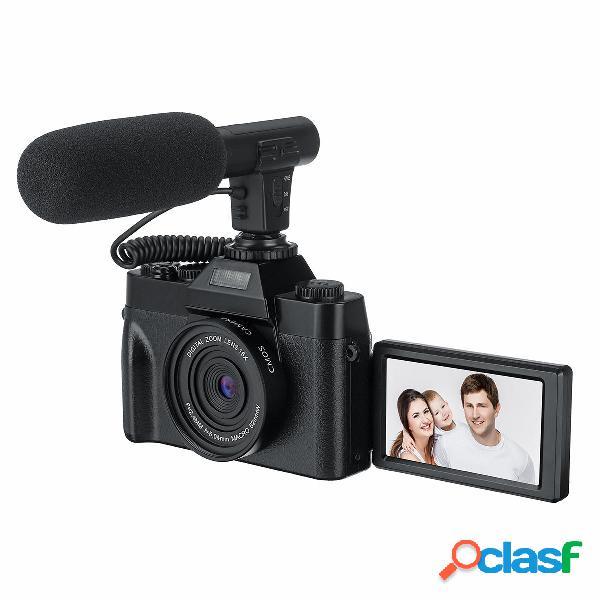 Videocamera klog 4k vlog 30mp 16x digital night vision fotografica supporto microfono per tik tok youtube streaming live