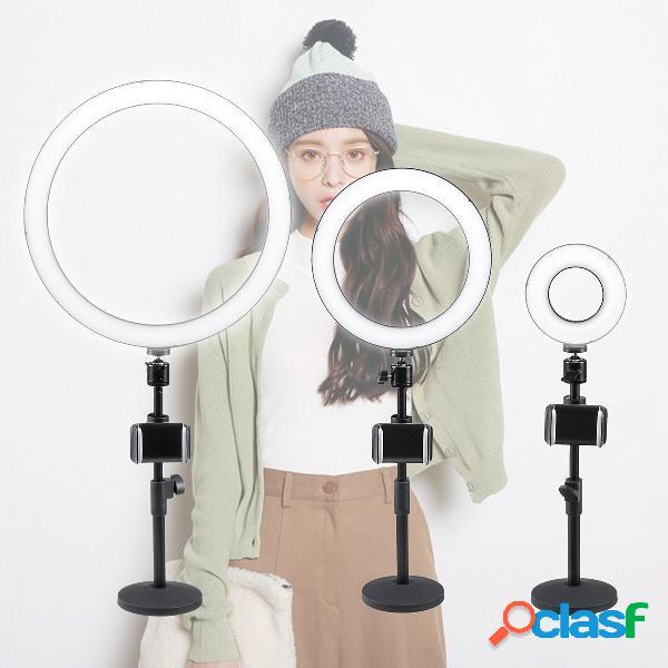 "13/9/5 ""dimmerabile led ring light stand photo video fotografica telefono per youtube live"