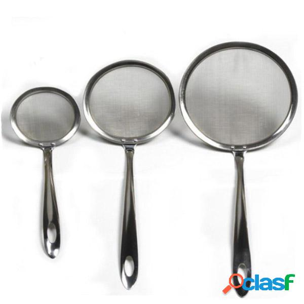 Acciaio inossidabile olio dipper scolapasta spoon filtro olio cucchiaio olio filtro strumento di cottura