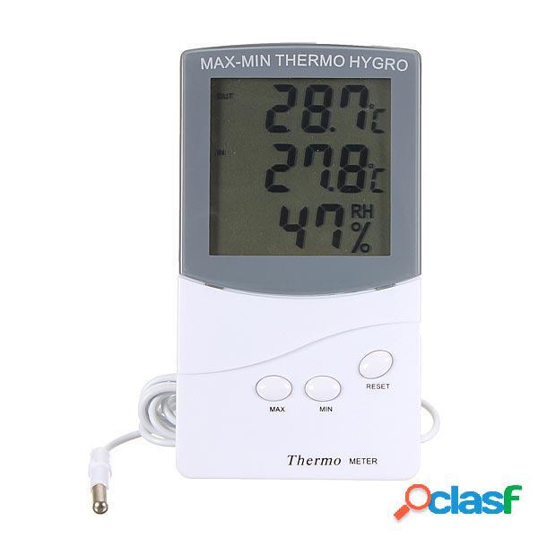 Lcd termometro digitale di umidità metro igrometro esterno dell'interno