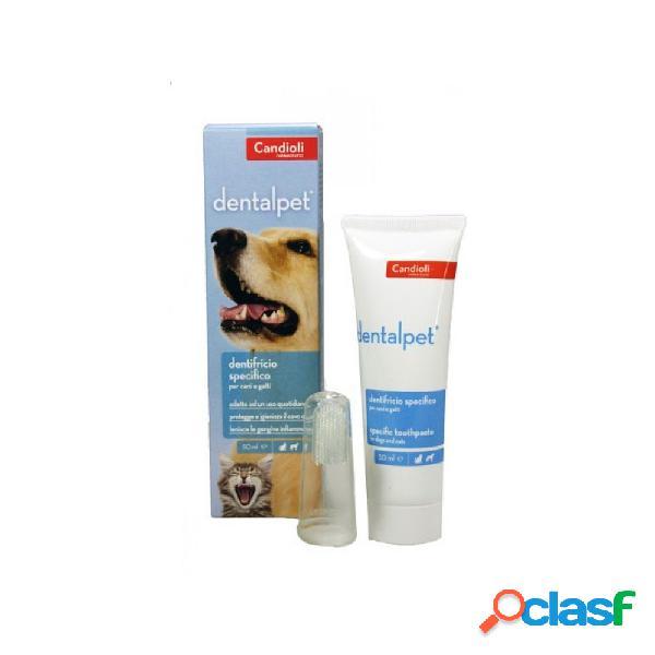 Candioli - dentalpet pasta dentifricia per cani e gatti tubo da 50 ml