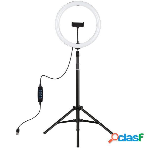 Puluz pkt3065b 10.2 pollici dimmerabile led luce per anello video con supporto per treppiede pu450b per streaming live s