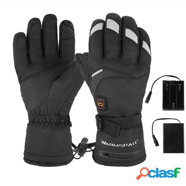 Riscaldamento elettrico guanti batteria scaldamani invernale riscaldato per moto guanti da sci