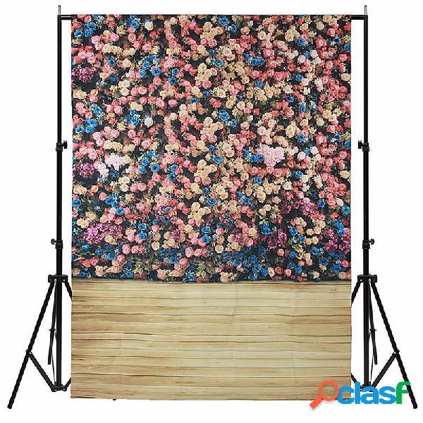 1.5x2.1m 5x7ft bella parete fiore in vinile fotografia in studio background