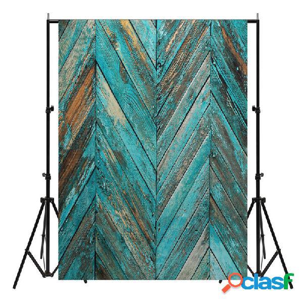 1.5x2.1m vernice blu twill di ripresa in studio di legno sfondo sfondo