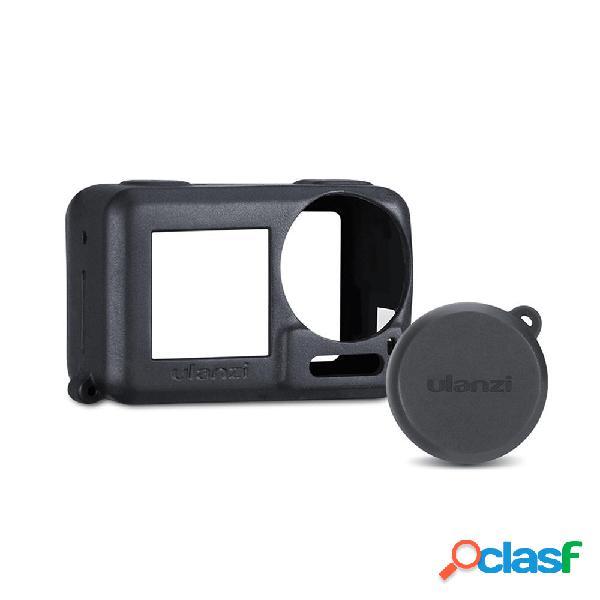 Ulanzi fotografica lente silicone coperchio custodia con cappuccio protettivo per dji osmo action accessorio protettivo